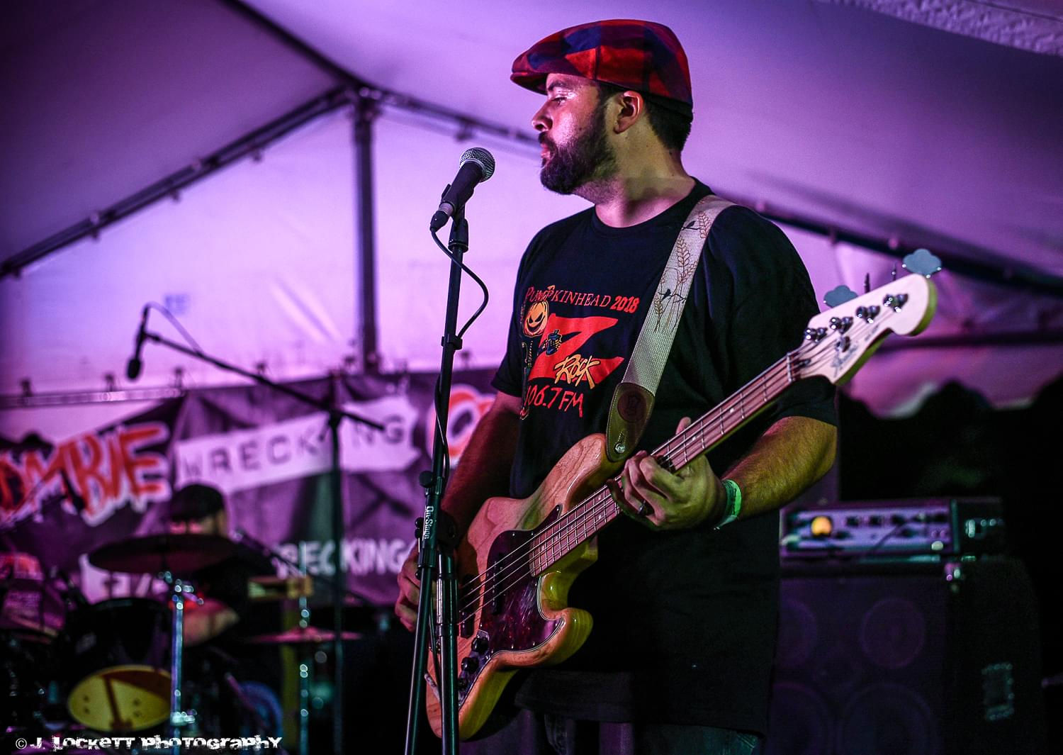 Marysville California band Red Handed performs at 106.7 Z-Rock's Pumpkinhead at Manzanita Place in Chico CA October 20th 2018