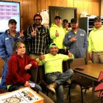 Tim Buc Moore with winners at Lundberg Family Farms in Richvale for the Z-Rock Munch Box