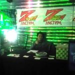 The Z-Rock promo team set up inside Lost on Main for the St. Paddy's Day party