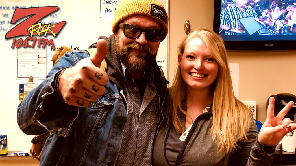 Tim Buc Moore with winner at Enloe Medical Center in Chico for the Z-Rock Munch Box