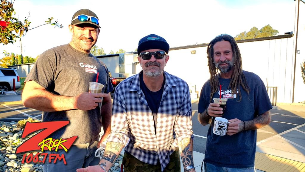 Tim Buc Moore with Buc-Heads at Code 3 Coffee in Chico on Thursday October 24th 2019 for Wake the Buc Up on 106.7 Z-Rock