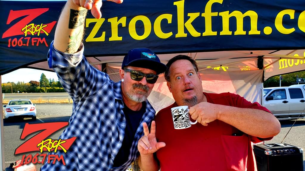 Tim Buc Moore with a Buc-Head at Code 3 Coffee in Chico on Thursday October 24th 2019 for Wake the Buc Up on 106.7 Z-Rock