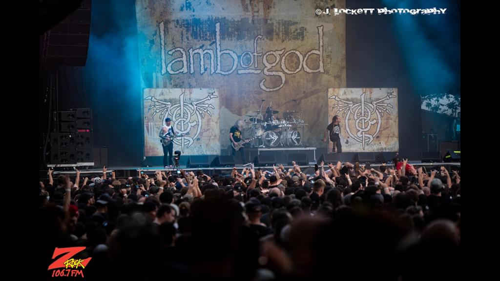 106.7 Z-Rock at Aftershock Festvial 2019 Friday October 11th 2019 at Discovery Park in Sacramento California, Lamb of God performs