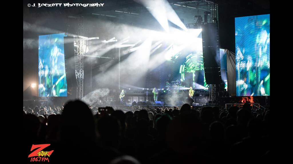 106.7 Z-Rock at Aftershock Festvial 2019 Friday October 11th 2019 at Discovery Park in Sacramento California, Staind performs
