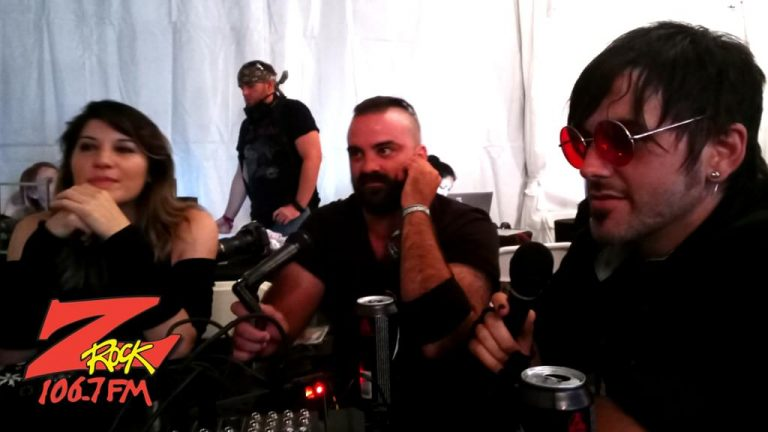 106.7 Z-Rock Sick Puppies interview at Aftershock Festvial 2019 Saturday October 12th 2019 at Discovery Park in Sacramento California
