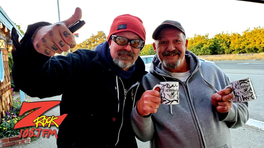 Tim Buc Moore poses with a Buc-Head at Gridley Grill & Crab Shack for Wake the Buc Up 2019 for 106.7 Z-Rock on October 31st