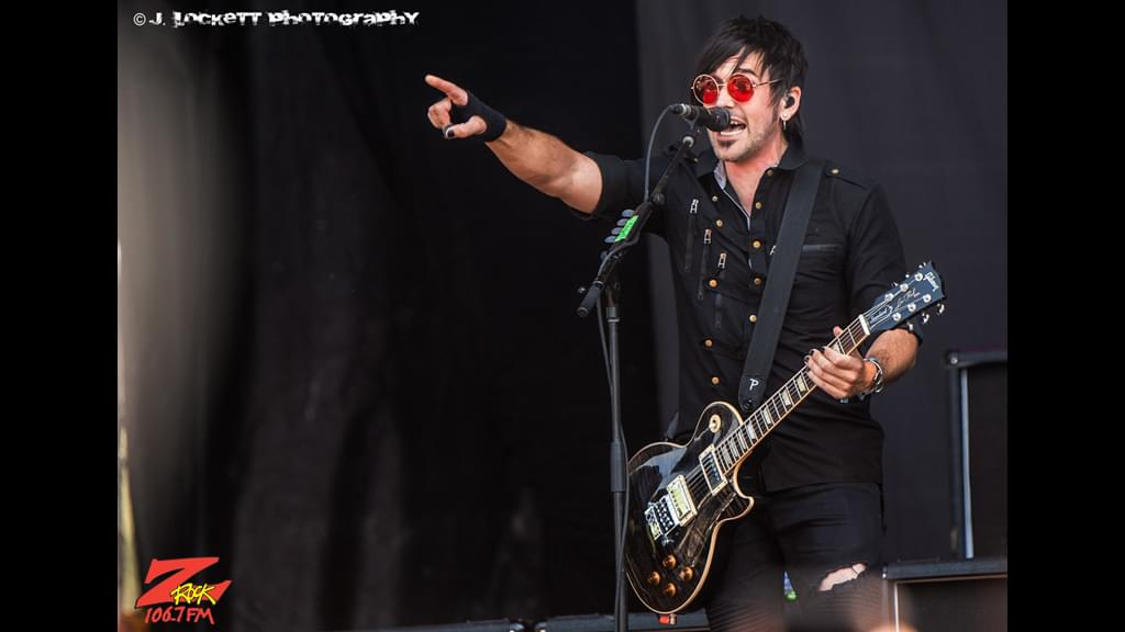 106.7 Z-Rock at Aftershock Festvial 2019 Friday October 11th 2019 at Discovery Park in Sacramento California, Bryan Scott of Sick Puppies performing