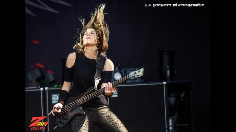 106.7 Z-Rock at Aftershock Festvial 2019 Saturday October 12th 2019 at Discovery Park in Sacramento California, Emma Anzai of Sick Puppies performing