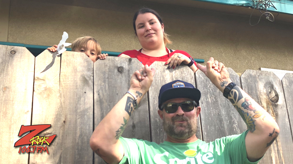 Tim Buc Moore with winner at Laura's Preschool & Daycare in Chico for the Z-Rock Munch Box on 106.7 Z-Rock