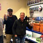 Tim Buc Moore with winner at Riebes Auto Parts in Chico for the Z-Rock Munch Box on 106.7 Z-Rock