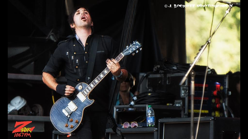 106.7 Z-Rock at Aftershock Festvial 2019 Saturday October 12th 2019 at Discovery Park in Sacramento California, Bryan Scott of Sick Puppies performing