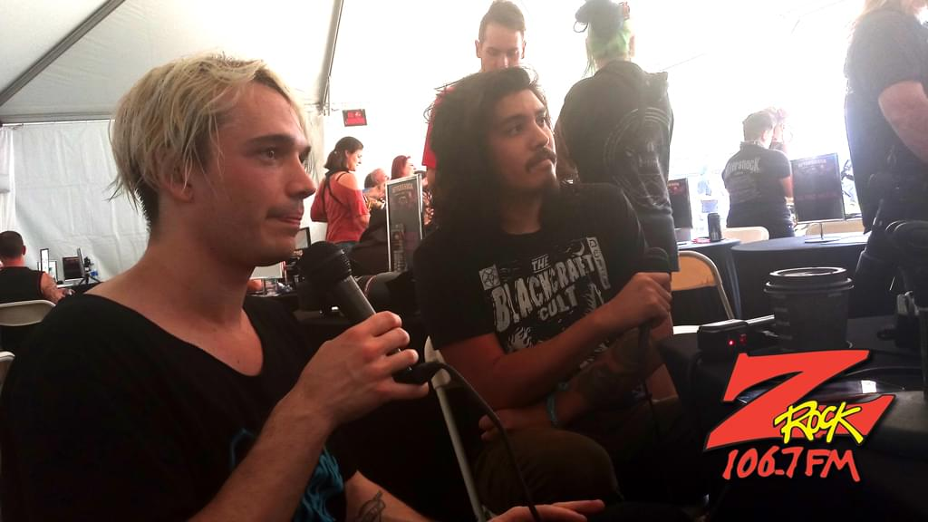106.7 Z-Rock's Badflower interview at Aftershock Festvial 2019 Saturday October 12th 2019 at Discovery Park in Sacramento California