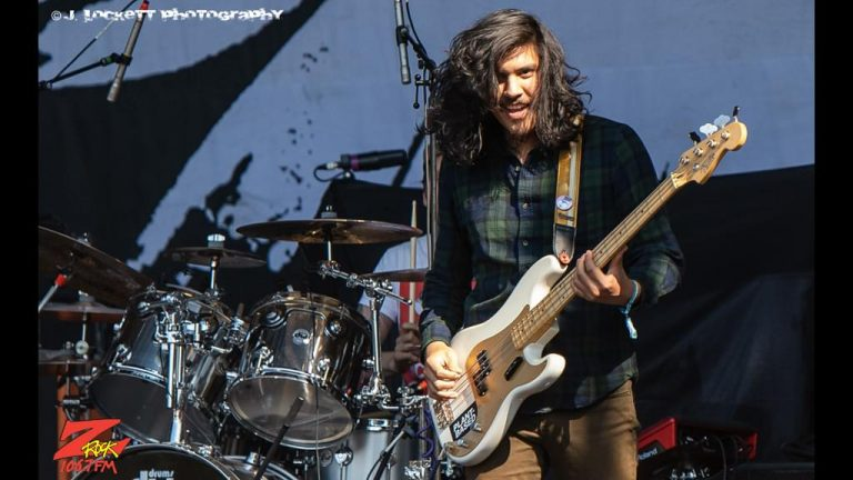 106.7 Z-Rock at Aftershock Festvial 2019 Saturday October 12th 2019 at Discovery Park in Sacramento California, Alex Espiritu of Badflower performs
