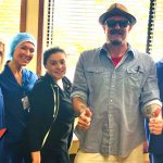 Tim Buc Moore with winner at Skyway Surgery Center in Chico for the Z-Rock Munch Box on 106.7 Z-Rock