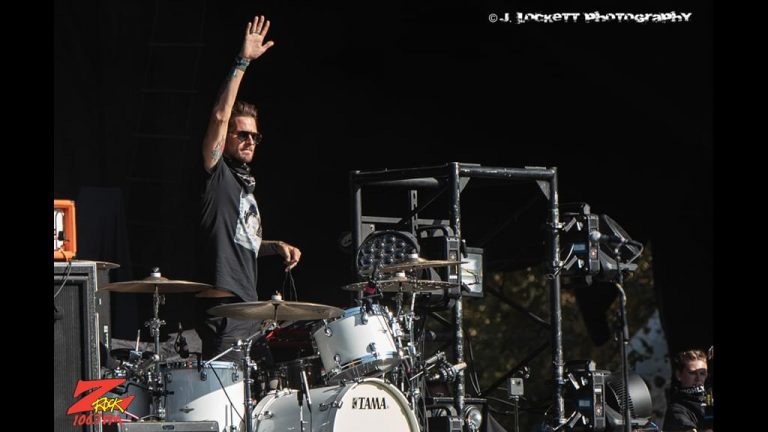 106.7 Z-Rock at Aftershock Festvial 2019 Saturday October 12th 2019 at Discovery Park in Sacramento California, Ryan Meyer of Highly Suspect performs