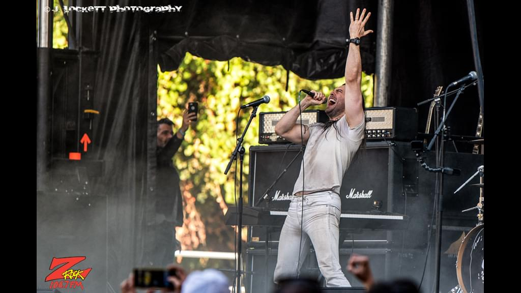 106.7 Z-Rock at Aftershock Festvial 2019 Saturday October 12th 2019 at Discovery Park in Sacramento California, Andrew W.K. performs