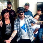 Tim Buc Moore with winners from Sunworks in Durham for the Z-Rock Munch Box on 106.7 Z-Rock