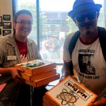 Tim Buc Moore with winner from Chico State Registrar's Office for the Z-Rock Munch Box on 106.7 Z-Rock