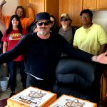 Tim Buc Moore with winners from Feather River Aggregates in Oroville for the Z-Rock Munch Box on 106.7 Z-Rock