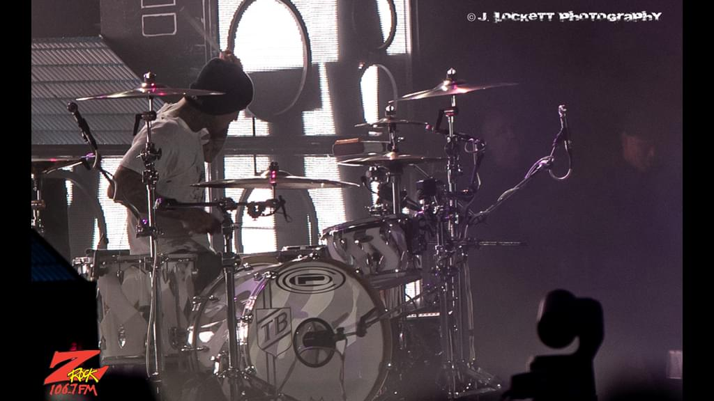 106.7 Z-Rock at Aftershock Festvial 2019 Saturday October 12th 2019 at Discovery Park in Sacramento California, Travis Barker of Blink-182 performs