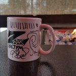 What's the only way to make a custom Z-Rock Doodle Mug cool again? Shoot the picture next to an open flame!