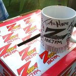 "Z-Rock ""doodle"" mug customized by Tim Buc Moore at Coffee Ranch for Wake the Buc Up on August 30th 2018"