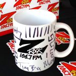 """A Z-Rock """"doodle mug"""" customized by Tim Buc Moore at Jeff's California Cattle Company in Redding for Wake the Buc Up on August 23rd 2018"""