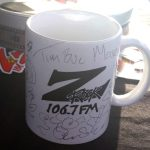 "A Z-Rock ""Doodle"" Mug customized by Tim Buc Moore at Lots 'A Java in Oroville CA for Wake the Buc Up October 4th 2018"