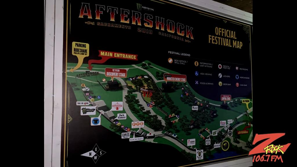 106.7 Z-Rock at Aftershock 2018 in Sacramento at Discovery Park October 13th 2018 (Saturday)