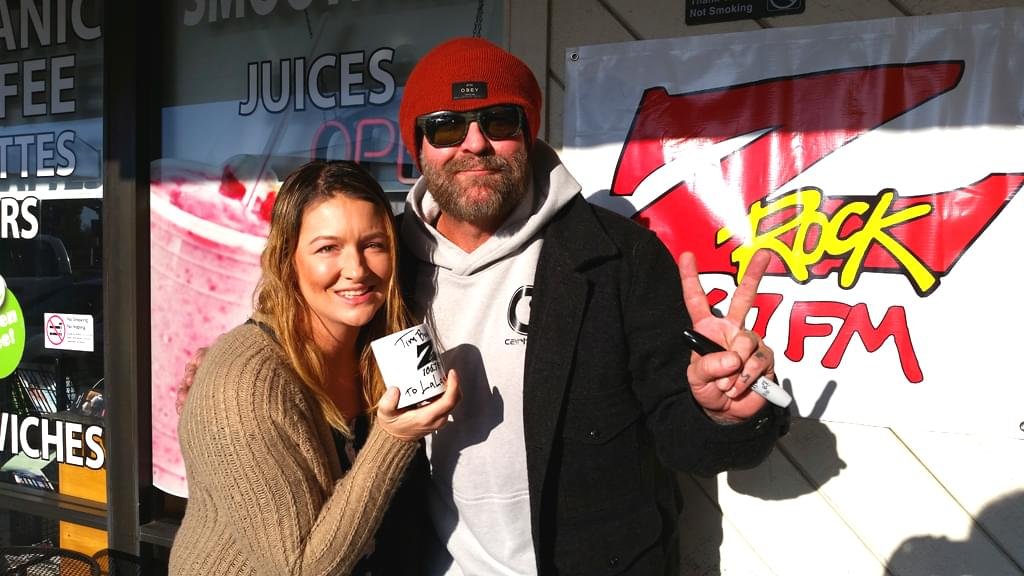 Tim Buc Moore with a Buc Head at Wake the Buc Up in front of Fresh Twisted Cafe December 13th 2018 in North Chico California