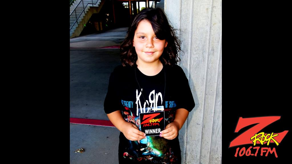 The newest generation of Z-Rockers waiting to meet Korn at the Redding Civic Auditorium