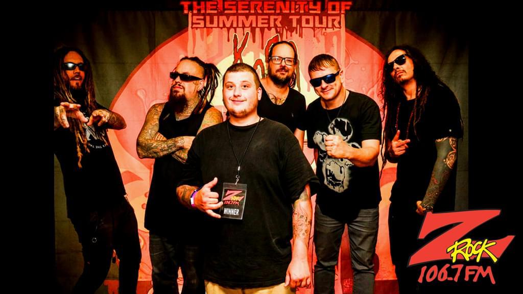 106.7 Z-Rock's winners meet Korn at the Redding Civic Auditorum in summer of 2017