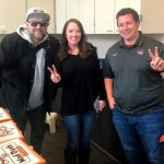 Tim Buc Moore with winner at Associated Pension Consultants in Chico for the Z-Rock Munch Box