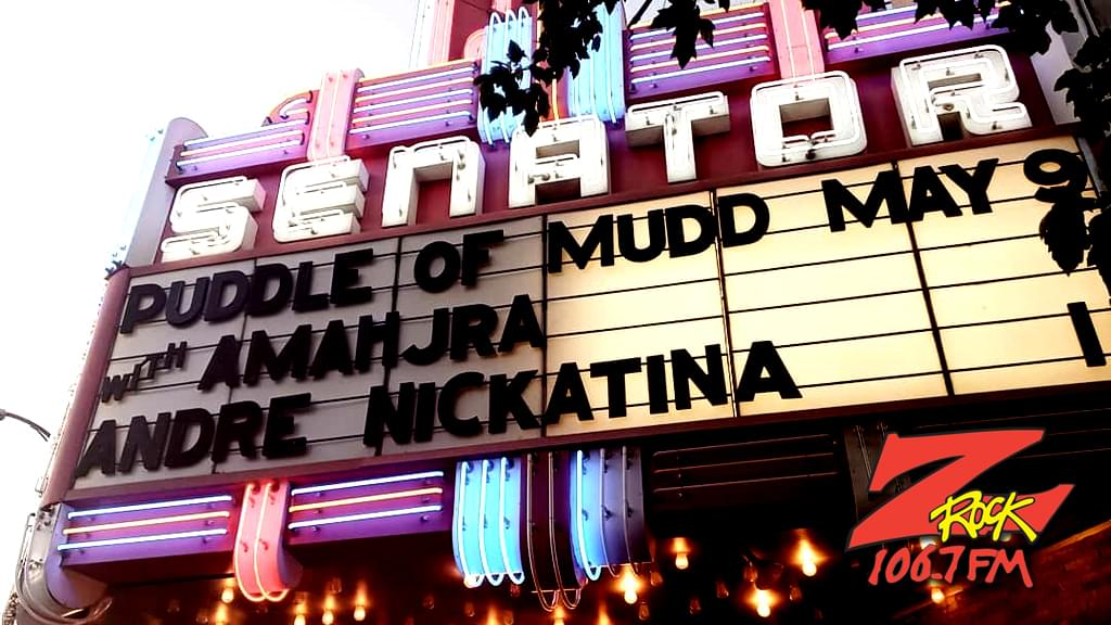 106.7 Z-Rock Presents Puddle of Mudd at the Senator Theater in Chico CA May 9th 2019