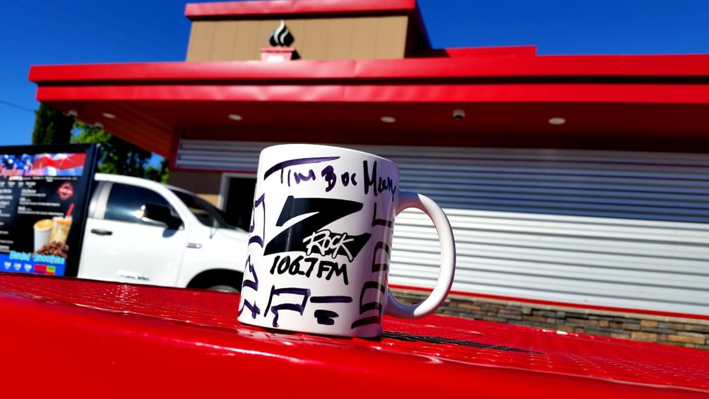 "Z-Rock ""doodle mug"" courtesy of Riley's in Chico for Wake the Buc Up 2019"