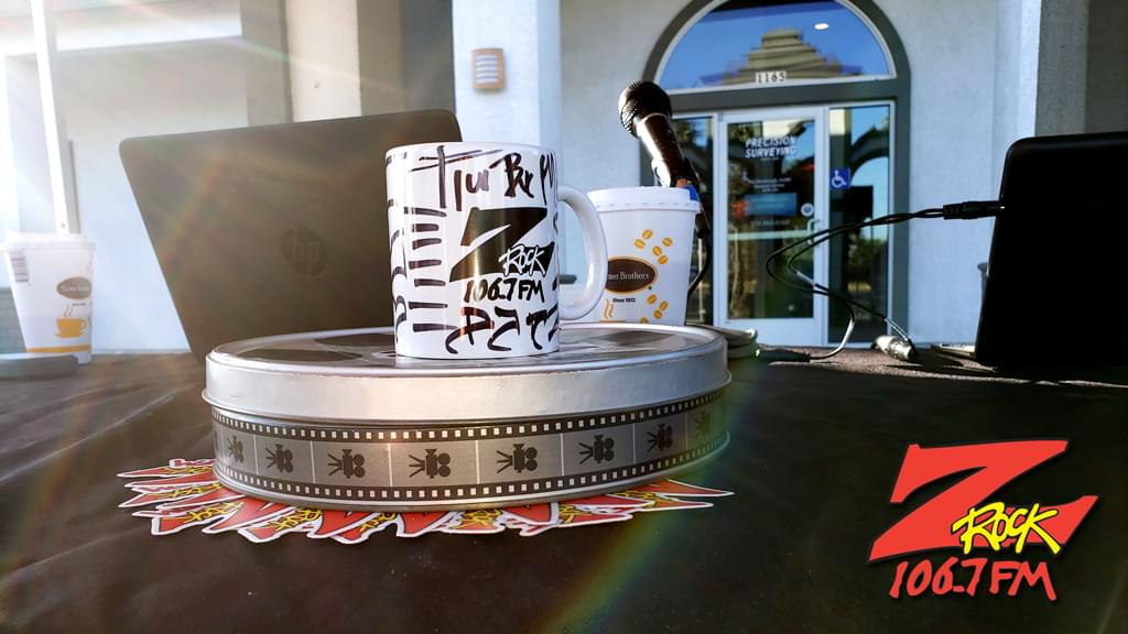 """Z-Rock """"doodle"""" mug customized by Tim Buc Moore at Wake the Buc Up in Orland CA August 1st 2019 live on 106.7 Z-Rock"""