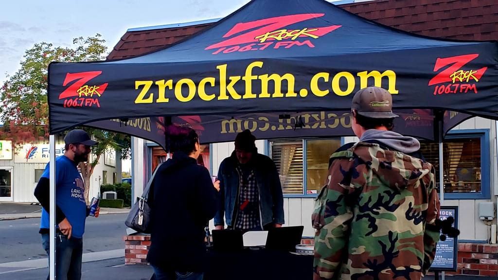 Tim Buc Moore with Buc-Heads at Lots' A Java in Oroville for Wake the Buc Up on 106.7 Z-Rock October 3rd 2019