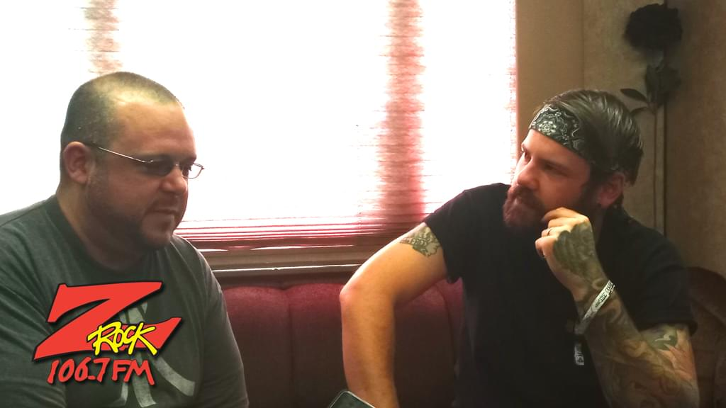 106.7 Z-Rock at Aftershock Festvial 2019 Friday October 11th 2019 at Discovery Park in Sacramento California, Boris interviews Caleb Shomo from Beartooth