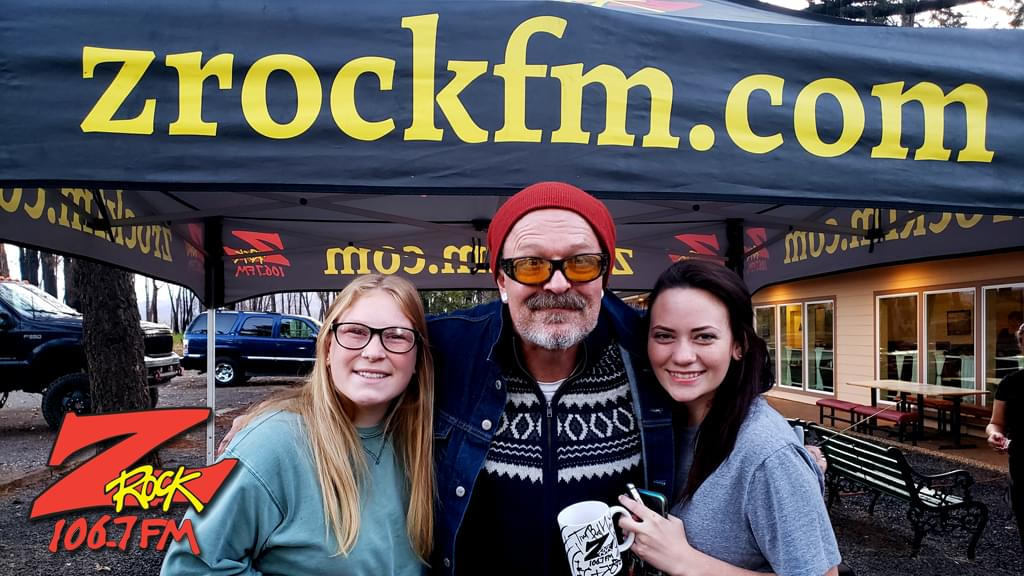 Tim Buc Moore with loyal Buc-Heads at Wake the Buc Up in Magalia for 106.7 Z-Rock at Jaki's Hilltop Cafe on October 17th 2019