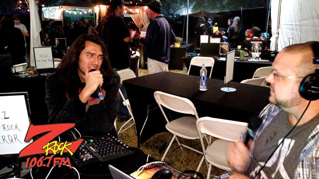 106.7 Z-Rock at Aftershock Festvial 2019 Friday October 11th 2019 at Discovery Park in Sacramento California, Boris interviewing Joe Perez from the band Santa Cruz