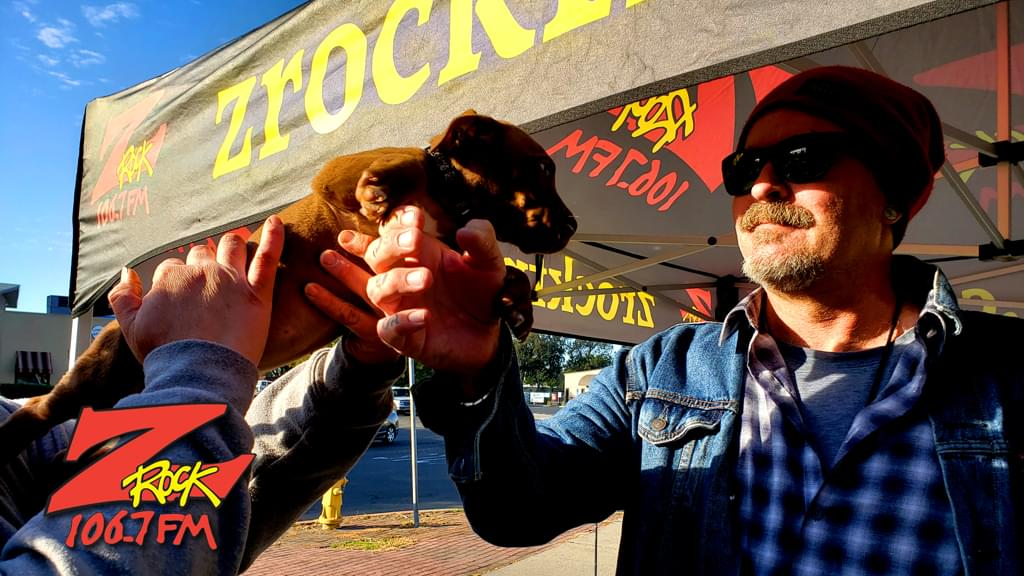 Tim Buc Moore with a fur baby Buc-Head at Lots' A Java in Oroville for Wake the Buc Up 2019 on October 3rd