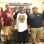 Tim Buc Moore with winner at Chico State Facilities Management & Services for the Z-Rock Munch Box on 106.7 Z-Rock