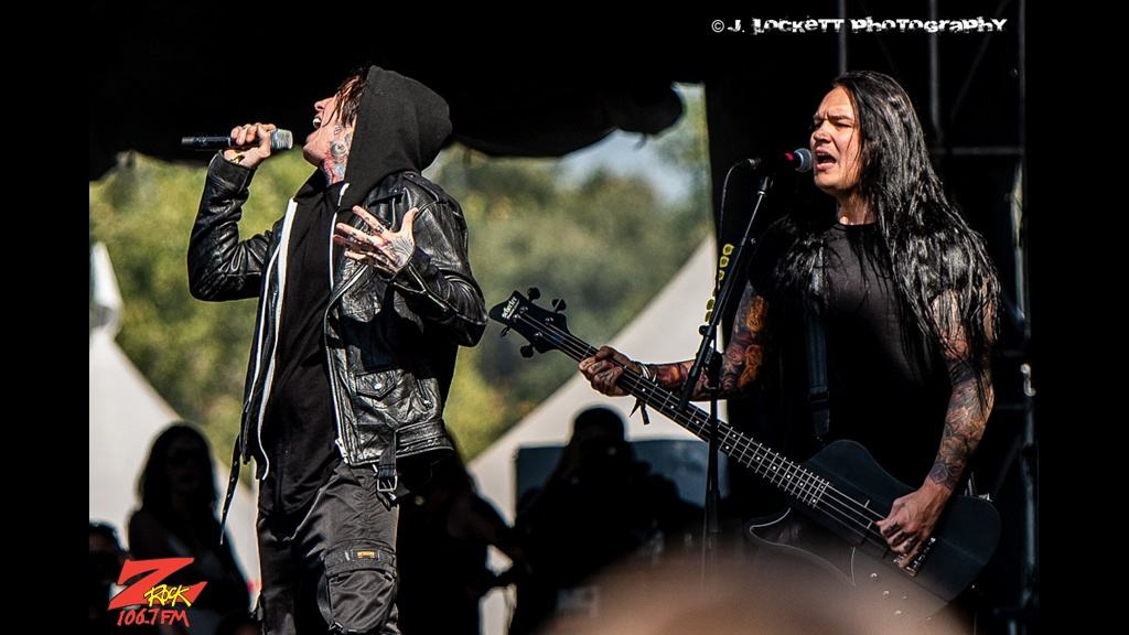 106.7 Z-Rock at Aftershock Festvial 2019 Sunday October 13th 2019 at Discovery Park in Sacramento California, Falling in Reverse Performs