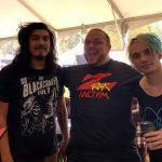 106.7 Z-Rock's Boris & Jeremy Lockett with Josh Katz & Alex Espiritu of Badflower at Aftershock Festvial 2019 Saturday October 12th 2019 at Discovery Park in Sacramento California