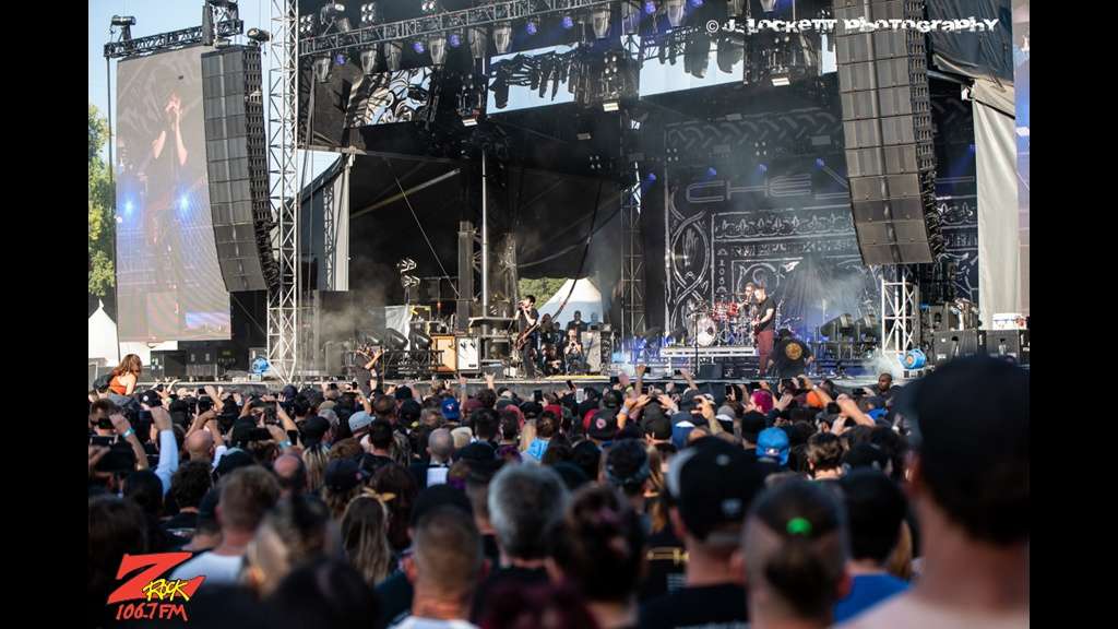 106.7 Z-Rock at Aftershock Festvial 2019 Sunday October 13th 2019 at Discovery Park in Sacramento California, Chevelle Performs