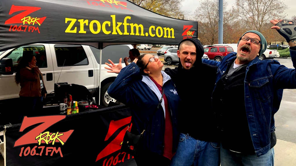 Tim Buc Moore from 106.7 Z-Rock hangs out with Buc-Heads at Fresh Twisted Cafe in Chico for Wake the Buc Up Thursday December 12th 2019