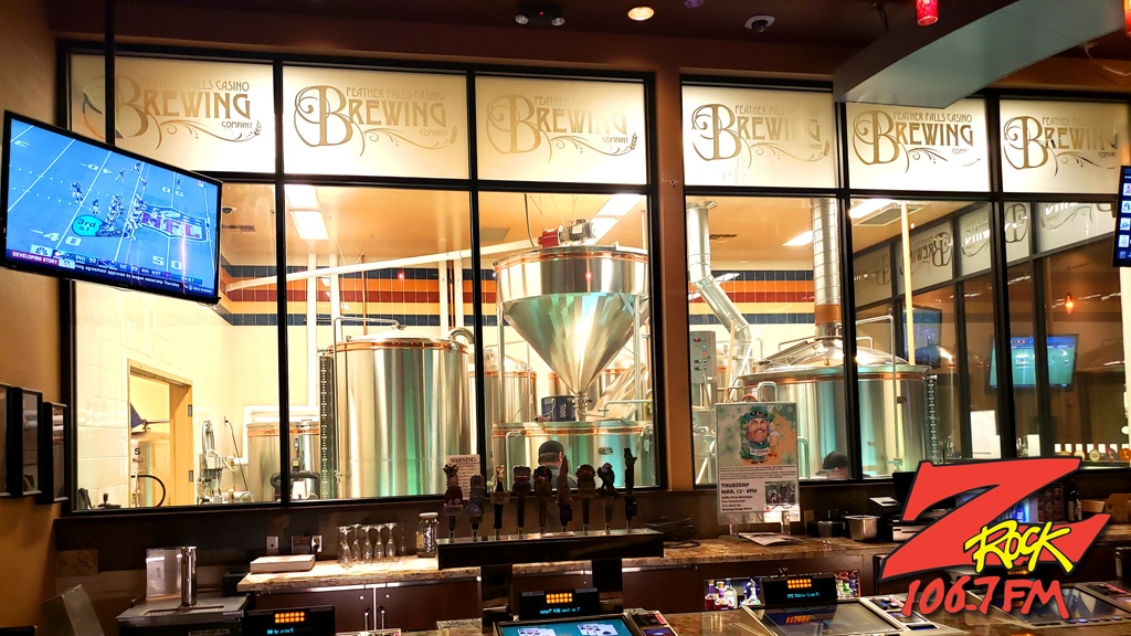 At Beer-30 on 106.7 Z-Rock during Feather Falls Fridays seeing where the magic happens at Feather Falls Brewing Company in Oroville CA