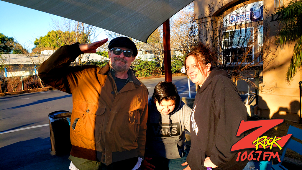 Tim Buc Moore hanging with loyal Buc-Heads at Coffee Ranch in Chico California for Wake the Buc Up on 106.7 Z-Rock