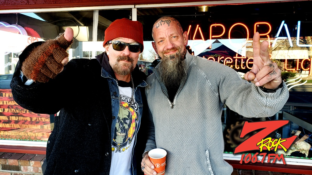 Tim Buc Moore from 106.7 Z-Rock hangs out with a Buc-Head at Odin's Smoke Shop in Chico for Wake the Buc Up Thursday February 6th 2020