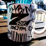 """World famous Z-Rock """"doodle"""" mug from Tim Buc Moore during Wake the Buc Up at Coffee Ranch in Chico California on 106.7 Z-Rock"""